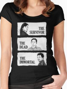 Torchwood - The Survivor, The Dead, The Immortal Women's Fitted Scoop T-Shirt