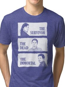 Torchwood - The Survivor, The Dead, The Immortal Tri-blend T-Shirt