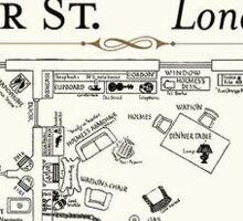 221b Baker Street - Sherlock Holmes Sticker
