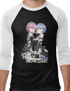 Re:Zero Rem and Ram T Men's Baseball ¾ T-Shirt