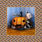 Assault on the Pumpkin - blue by Roberta Angiolani