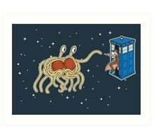 Wibbly Wobbly Noodley Woodley III Art Print