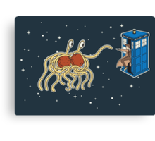 Wibbly Wobbly Noodley Woodley III Canvas Print