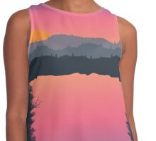 Sunset Over Mountains Contrast Tank