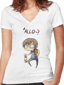 Pewdiepie 'Allo Women's Fitted V-Neck T-Shirt