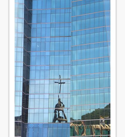 Streetscape Reflections (3), Rio de Janeiro, Brazil.  Sticker