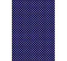 Polkadots Blue and White Photographic Print