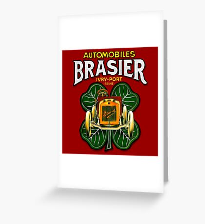Vintage Automobiles Brasier poster by MotorMania  Greeting Card