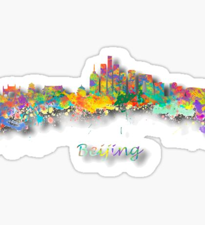 Beijing China Skyline Sticker