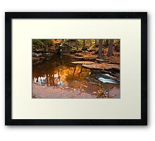 Autumn Reflection At The Top of Adams Falls Framed Print