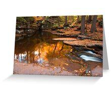 Autumn Reflection At The Top of Adams Falls Greeting Card