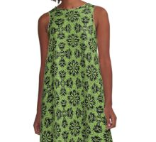 Greenery Floral A-Line Dress