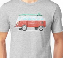 Cool Beach Bus with Surfboard Unisex T-Shirt