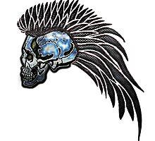 Biker Angel Skull by Bluesax