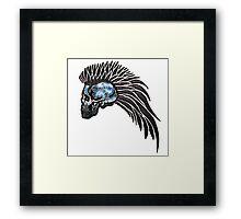 Biker Angel Skull Framed Print