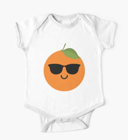 Orange Emoji Cool Sunglasses One Piece - Short Sleeve