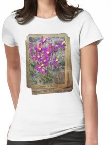 queen of sheeba WA native orchids Womens Fitted T-Shirt
