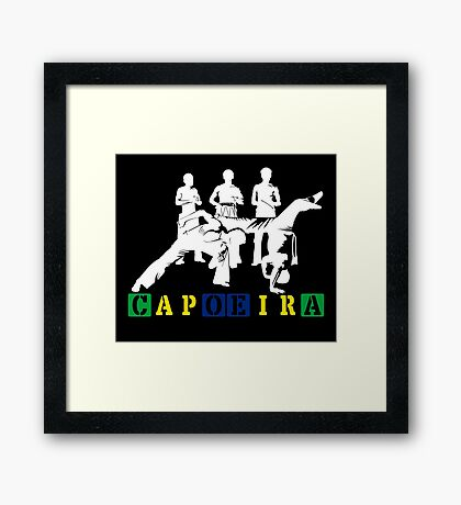 Capoeira - White Framed Print