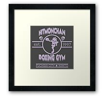Hitmonchan Boxing Gym   Purple Framed Print