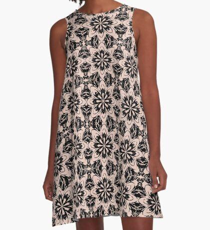 Pale Dogwood Floral A-Line Dress