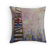 The Boy in the Clouds Throw Pillow