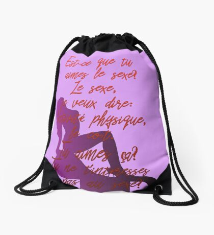 Partition Drawstring Bag