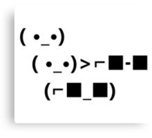 ASCII Unicode Sunglasses Deal With It Canvas Print