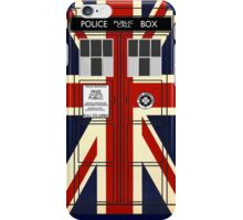 Union Jack Police Call Box. iPhone Case/Skin