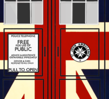 Union Jack TARDIS. Sticker