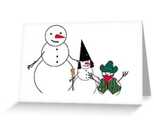 Halloween Time for Snowmen Greeting Card