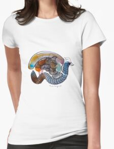 Interpretation #42 - The winged worm Womens Fitted T-Shirt