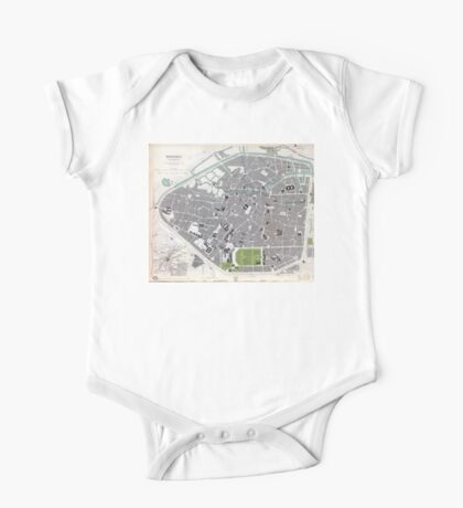 Plan of Brussels - 1837 One Piece - Short Sleeve