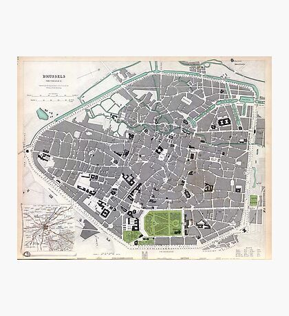 Plan of Brussels - 1837 Photographic Print