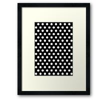 Polkadots Black and White Framed Print