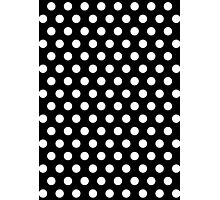 Polkadots Black and White Photographic Print