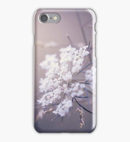 White Wildflowers iPhone Case/Skin
