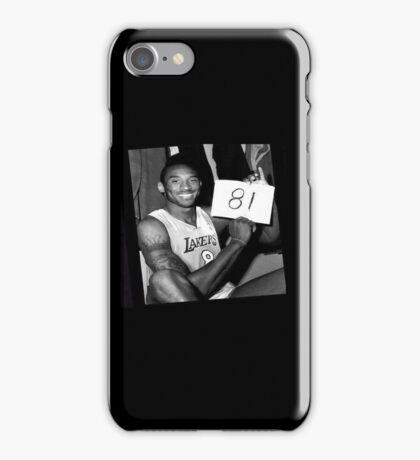 Kobe Bryant - 81 Points iPhone Case/Skin