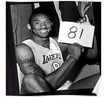 Kobe Bryant - 81 Points Poster