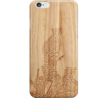 Wood Cut Cheetah iPhone Case/Skin