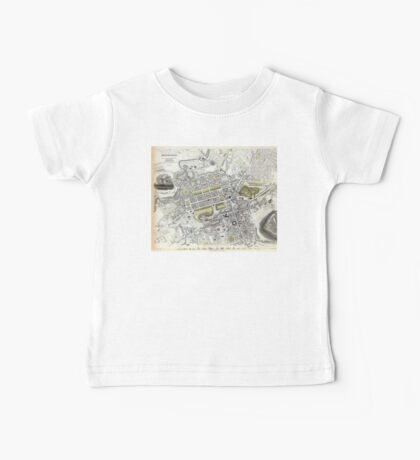 Plan of Edinburgh, Scotland - 1834 Baby Tee