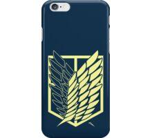 Attack On Titan: Scout Regiment (Blue) iPhone Case/Skin