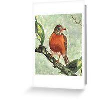 North American Robin Greeting Card
