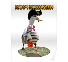 Halloween Pirate Duck  Poster