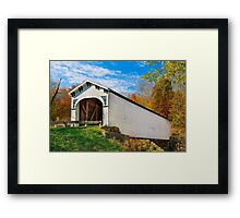 Richland Creek Covered Bridge Framed Print