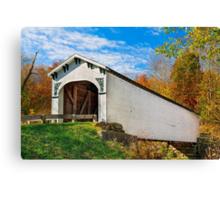 Richland Creek Covered Bridge Canvas Print