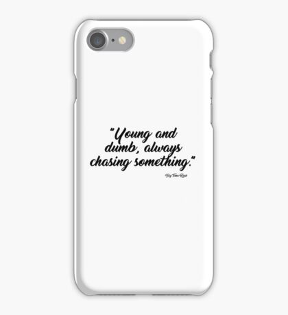 Don't touch me i'm trash iPhone Case/Skin