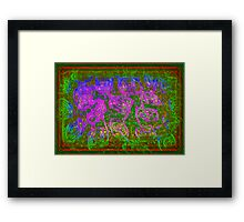 CURLY INTERTWINED COLORS Framed Print