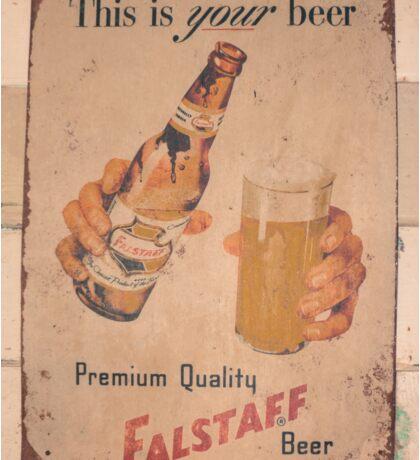 Old Beer Billboard Sticker
