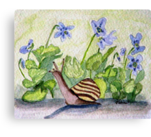 Harold in the Violets Canvas Print