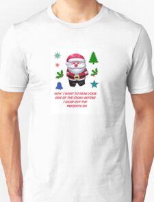 A SANTA CLAUS GREETING CARD  Unisex T-Shirt